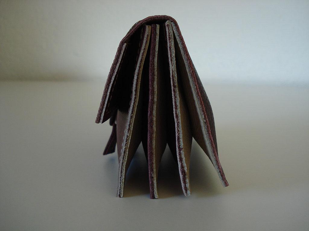 Portemonnee 4-vks bordeaux-taupe